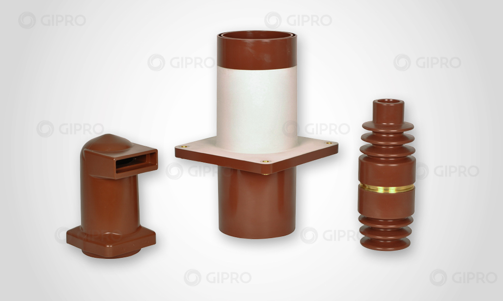 Customized cast-resin bushings