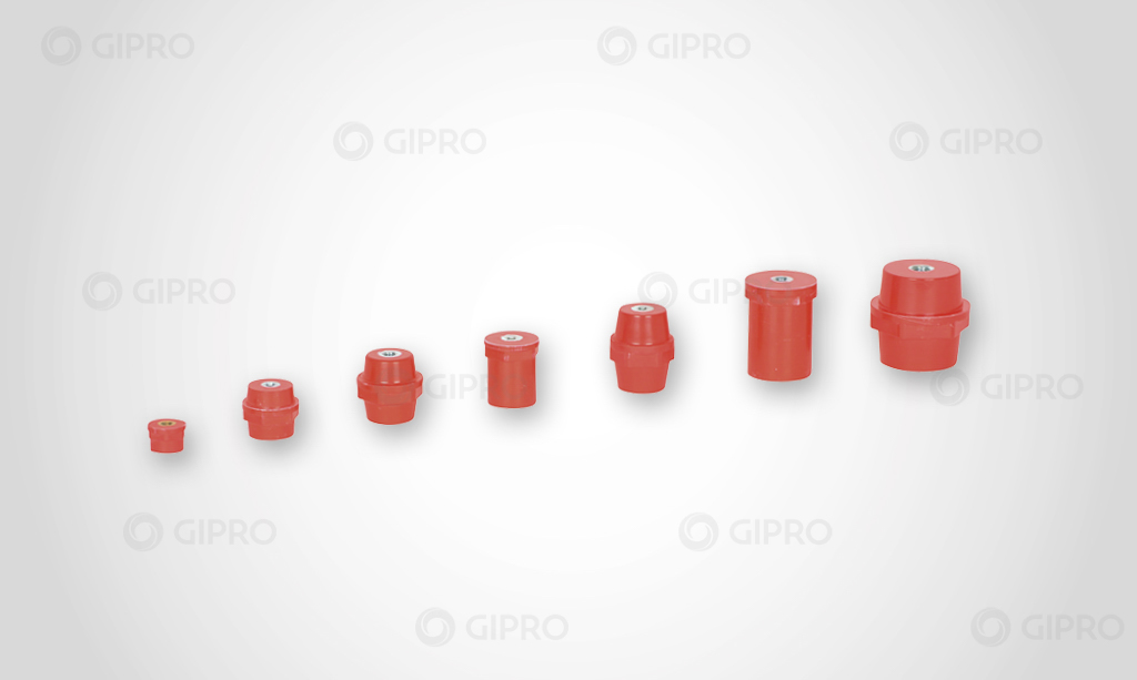 Low-voltage pin insulators polyester