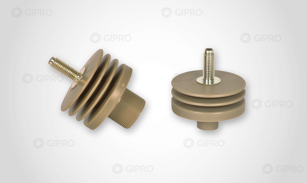 Power-capacitor bushing with bolt